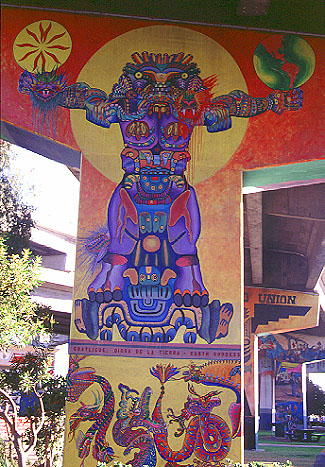 Chicano park murals coatlicue mural for Mural chicano
